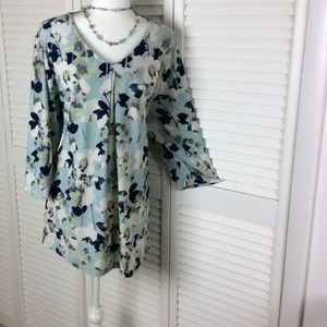 Catherines blouse 3/4 sleeve 1x 18-20w plus size